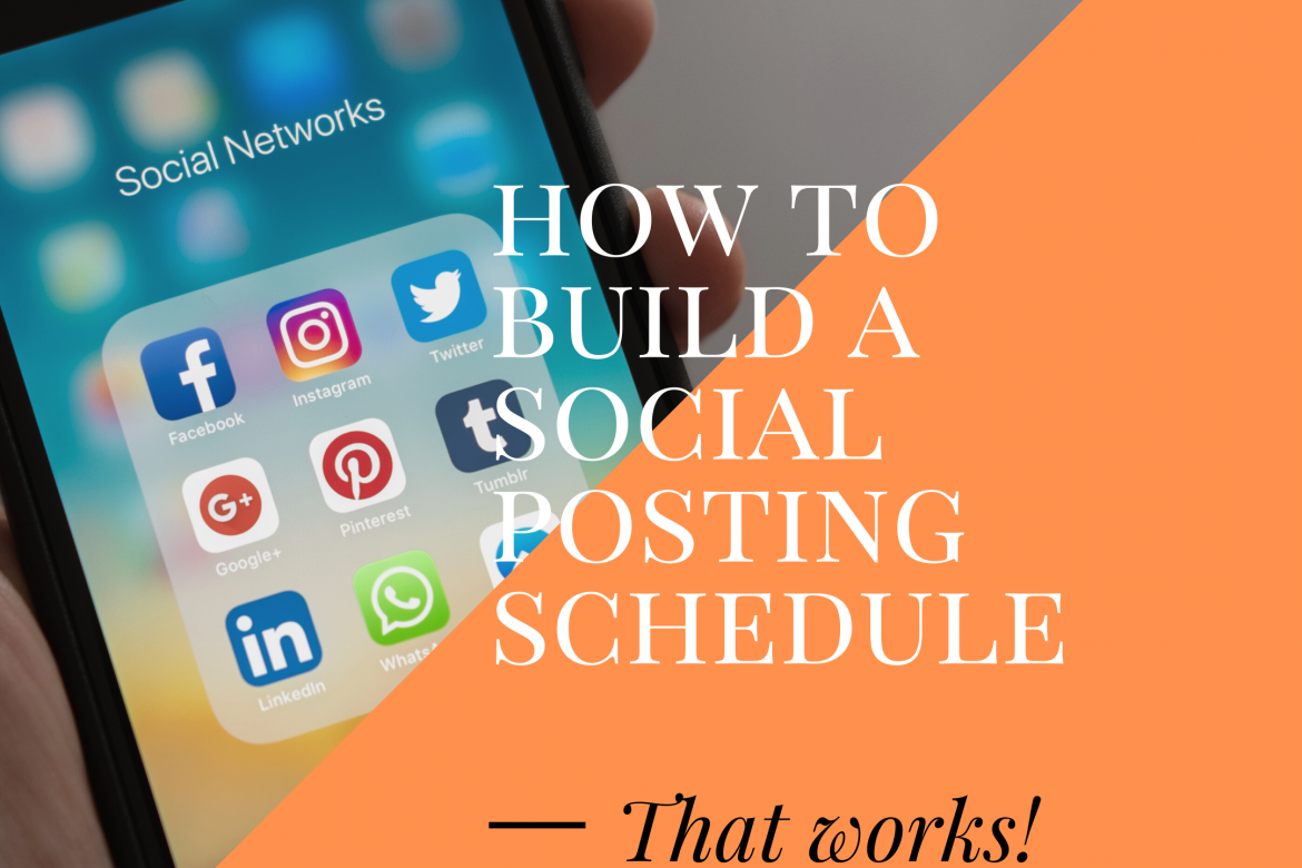 build a social posting schedule